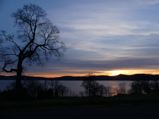 sunset, Rockwood Hall